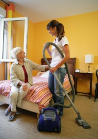Senior-care-companion-cleaning